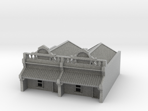 N Scale Terrace House 1 Storey (Double) 1:160 in Metallic Plastic