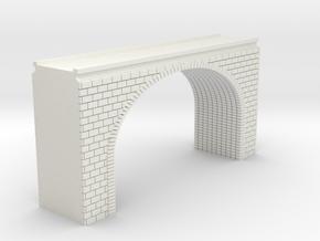 N Scale Arch Bridge Double Track (narrow) 1:16 in White Natural Versatile Plastic