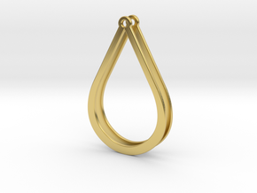 Drops Stacking Earrings - PART 2 in Polished Brass