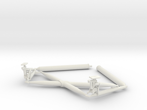 10-Lunar Module Landing Gear Cross Brace in White Natural Versatile Plastic