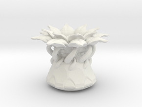 Flora in White Natural Versatile Plastic