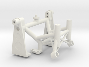 056011-03 Tamiya Falcon Shock Tower & Wing Mount in White Natural Versatile Plastic