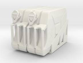 Unimog U404 Jarican 1:10 in White Natural Versatile Plastic: 1:10