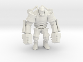 Iron Giant jaeger mech Pacific Rim miniature games in White Natural Versatile Plastic