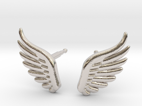 wings_stud_V2.1.1 in Rhodium Plated Brass