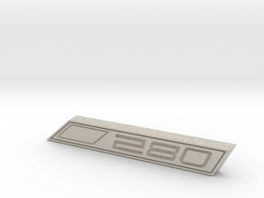 Cupra 280 Text Badge in Natural Sandstone