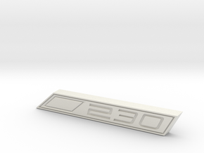 Cupra 230 Text Badge in White Natural Versatile Plastic