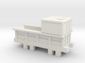 00 Scale Locomotion No 1 Tender Scratch Aid in White Natural Versatile Plastic