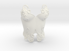 Romantic Breastplate in White Natural Versatile Plastic