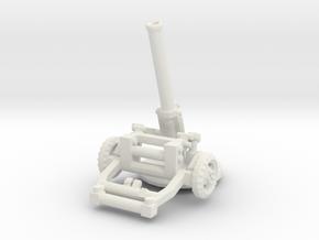 M160 Mortar (160mm) 1/87 in White Natural Versatile Plastic