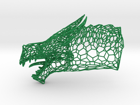 Dragon Trophy Wireframe 100mm in Green Processed Versatile Plastic