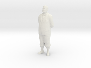 HO Scale Old Man in White Natural Versatile Plastic