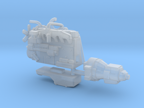1/87th Diesel truck engine 1 in Smooth Fine Detail Plastic