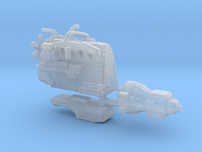 1/50th Diesel Truck Engine #1 in Smooth Fine Detail Plastic