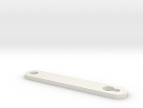 RC10 Battery Retainer #6335 in White Natural Versatile Plastic