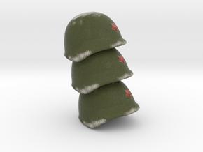 3 Russian Helmet WW2 p in Full Color Sandstone