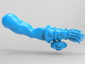 Space Elf Harlequin Caress with Arm RH x5 in Smooth Fine Detail Plastic