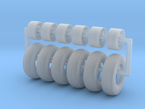 9.5-15 Drill Tires in Smooth Fine Detail Plastic