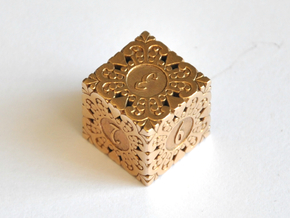 D6 Balanced - Gothic in Natural Bronze