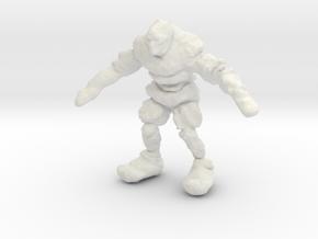 Mountain Troll in White Natural Versatile Plastic