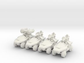 Infantry Support Vehicles in White Natural Versatile Plastic: Small
