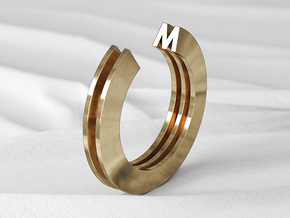 M Ring in Natural Bronze: 6 / 51.5