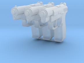 1:6 Miniature Russian GSH-18 Gun - 3x in Smooth Fine Detail Plastic