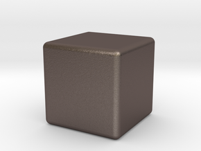 Very Expensive Cube in Polished Bronzed Silver Steel