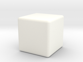 Very Expensive Cube in White Processed Versatile Plastic