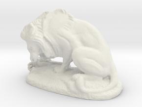 Lion in White Natural Versatile Plastic