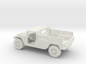 1/72 Scale HMMWV Pickup in White Natural Versatile Plastic