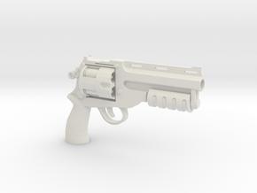 1:6 Scale BFG Revolver - Tactical Version in White Natural Versatile Plastic
