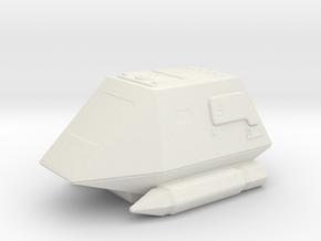 Shuttle El-Baz in White Natural Versatile Plastic