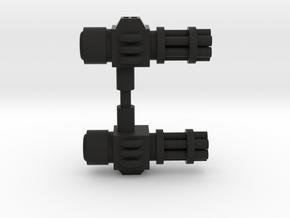 Gatling Pistols Dual Set in Black Natural Versatile Plastic