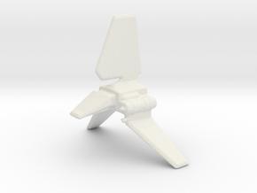 Empire Shuttle in White Natural Versatile Plastic