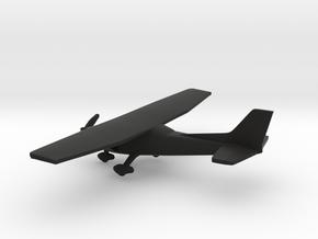 Cessna 172 Skyhawk in Black Natural Versatile Plastic: 1:144
