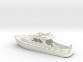 Yacht Ver01. 1:160 Scale in White Natural Versatile Plastic