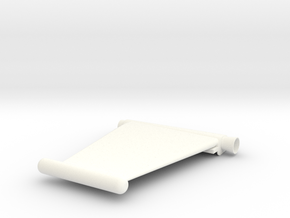 Captain Action Silver Streak Left Wing 7 inch in White Processed Versatile Plastic