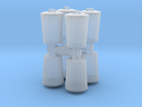 Trash can (x8) 1/144 in Smooth Fine Detail Plastic