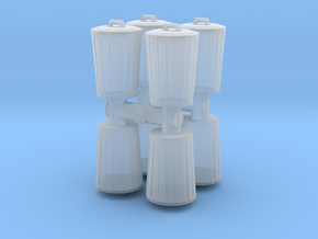 Trash can (x8) 1/160 in Smooth Fine Detail Plastic
