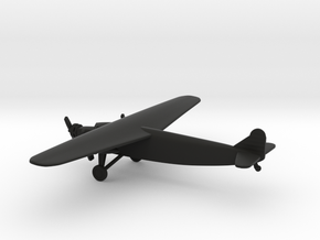Fokker F.XVIII in Black Natural Versatile Plastic: 6mm