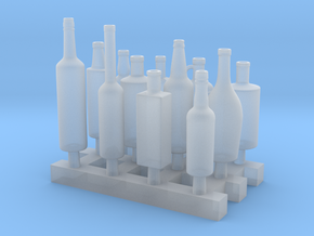 Liquors Bottles (2) 1:24 in Smooth Fine Detail Plastic