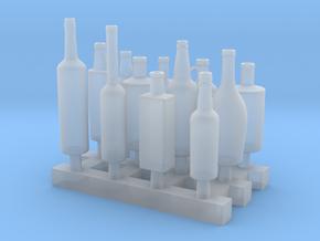 Liquors Bottles (2) 1:24 in Smooth Fine Detail Plastic