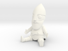 Little Guthrum Statuette in White Processed Versatile Plastic