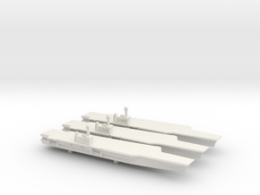 BSAC 220 aircraft carrier x 3, 1/3000 in White Natural Versatile Plastic