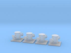 1/72 DKM Destroyer Bollard v3 Set x4 in Smooth Fine Detail Plastic