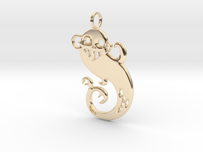 Fiji Mermaid Pendant in 14K Yellow Gold