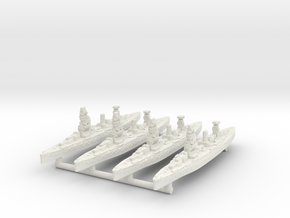 Fuso Class Battleship (1925) [x4] in White Natural Versatile Plastic