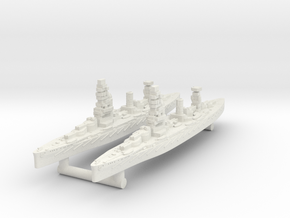 Fuso Class Battleship (1925) [x2] in White Natural Versatile Plastic