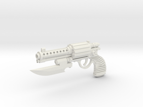 1:6 Scale Steampunk Boarding Pistol in White Strong & Flexible